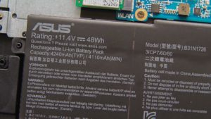 Asus TUF Gaming FX504 battery