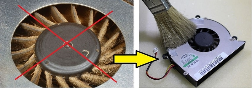How to clean fan notebook