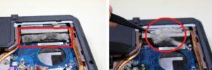 Remove dust overheating laptop