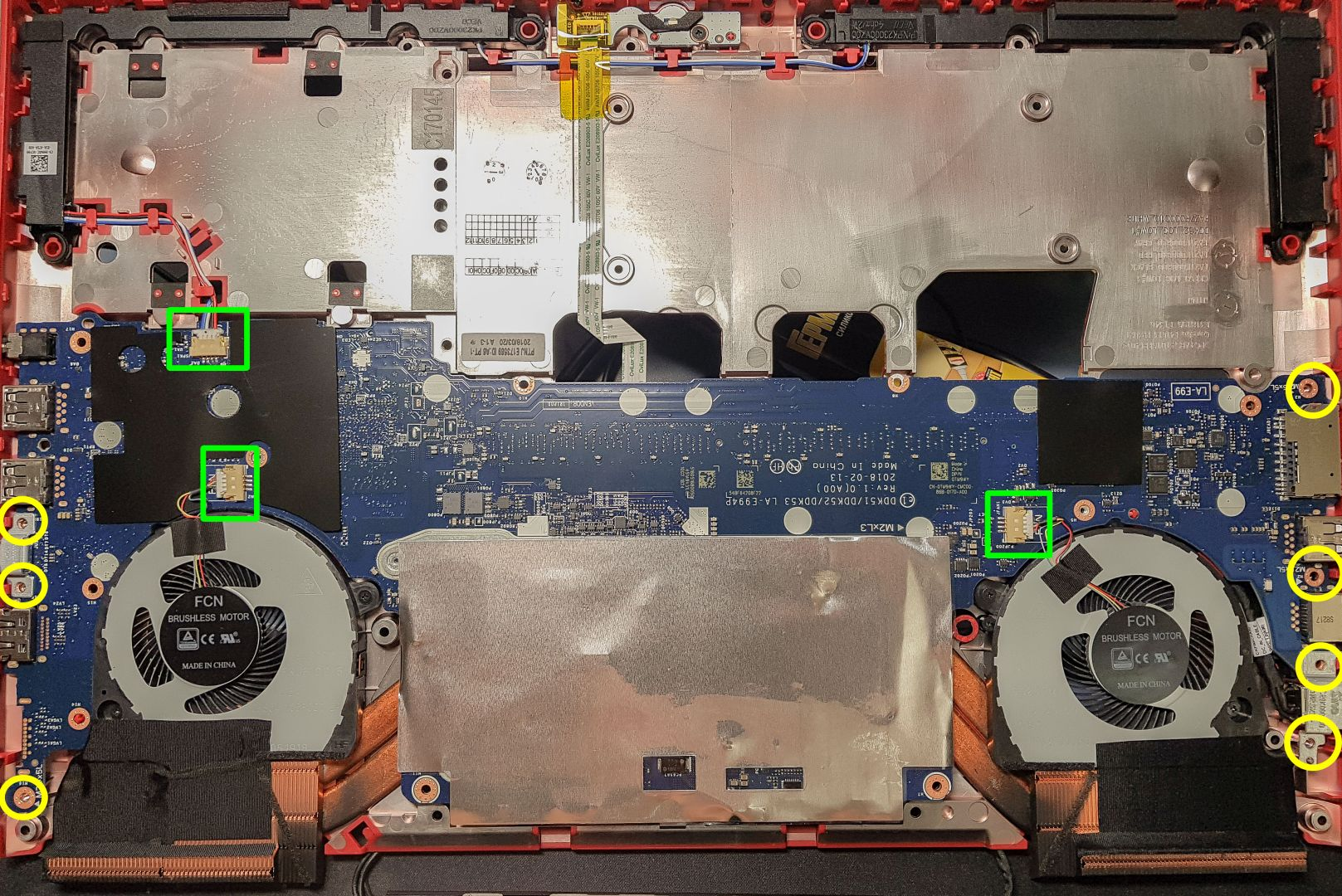 Step 10 of Dell G5 G7 disassembly