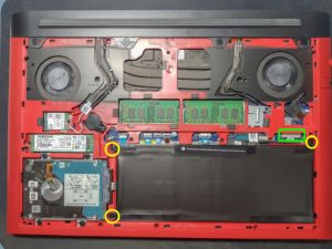 Step 2 of Dell G5 G7 disassembly