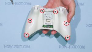 disassemble xbox 360 gamepad step