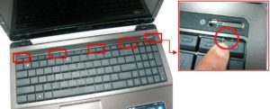 open latches on the keyboard