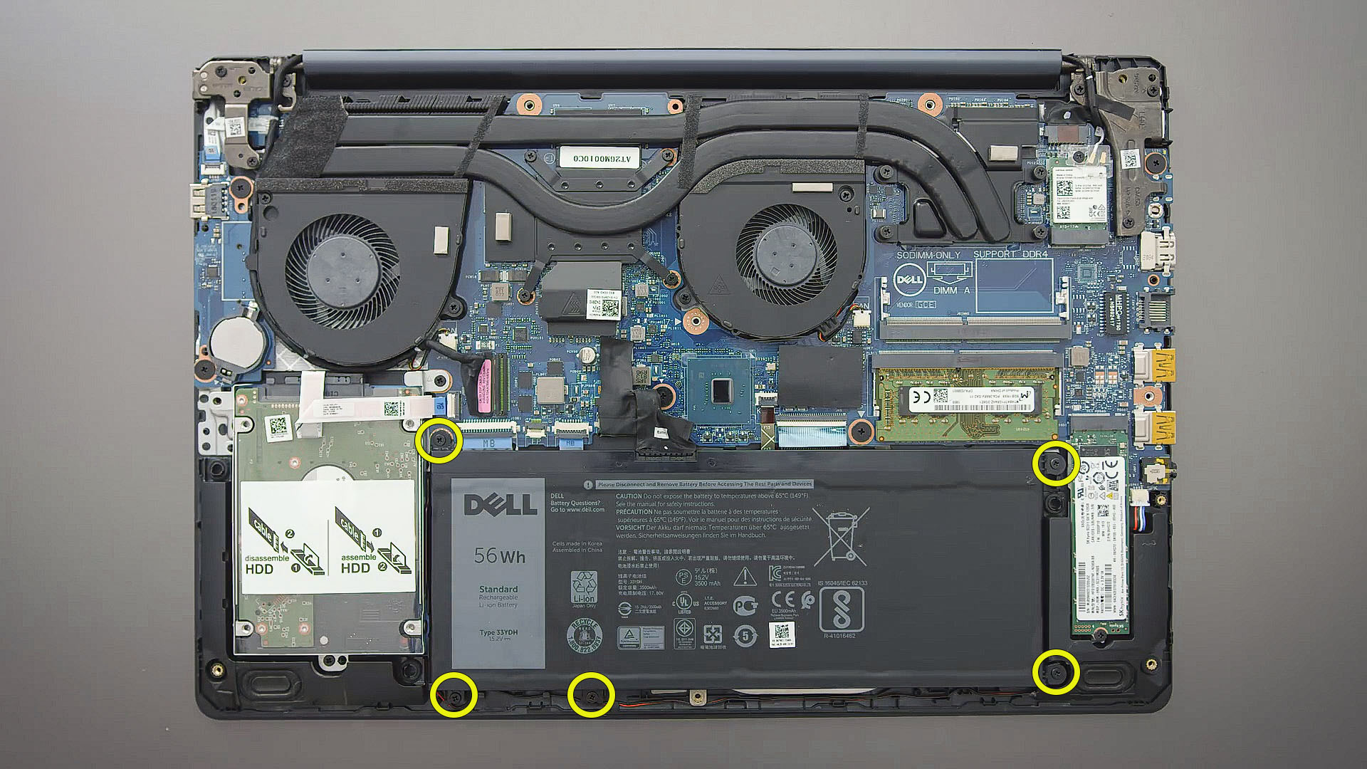 replace battery Dell G3