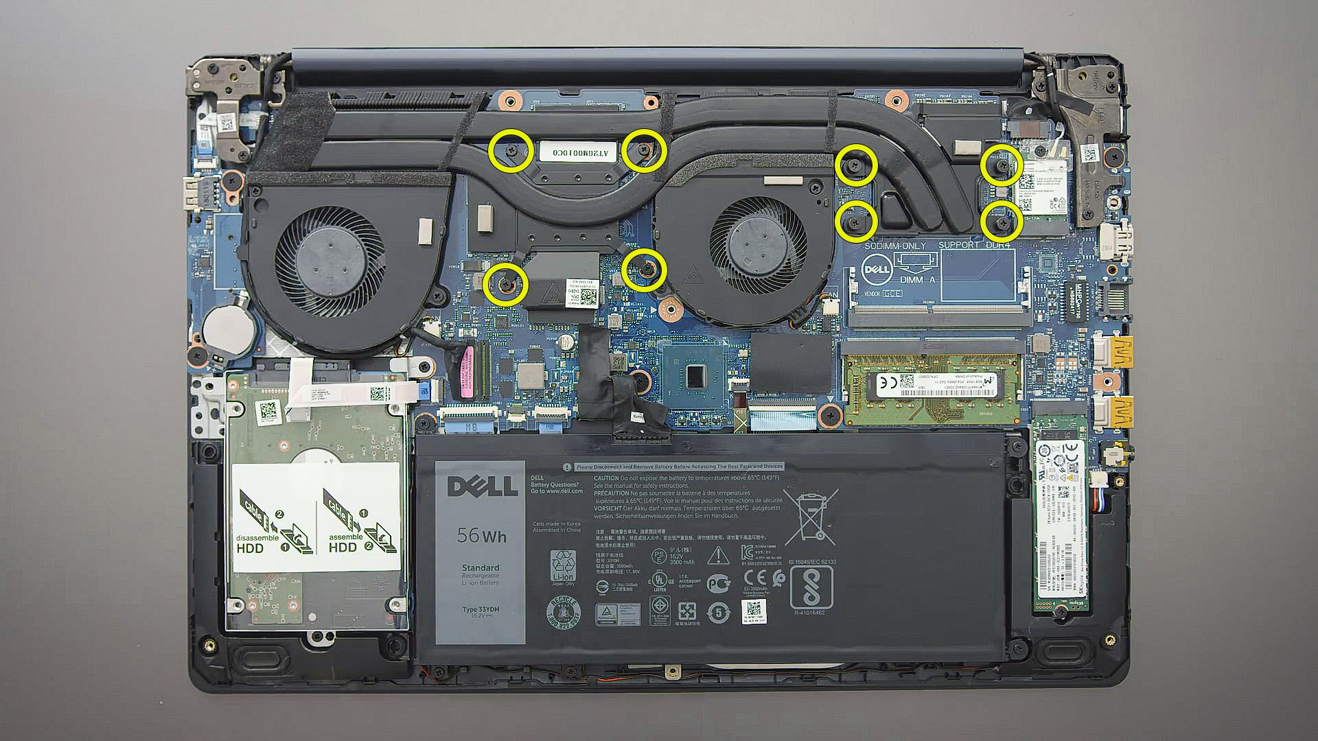 Disassembly Dell G3 3579