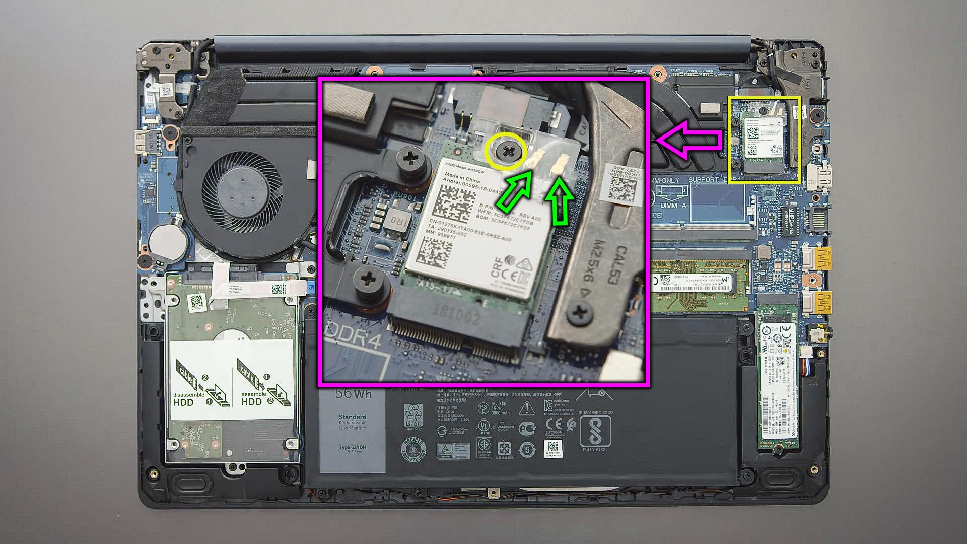 replace wifi module Dell G3