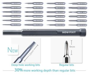 how-fixit screwdriver set type of bits